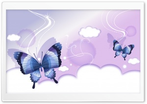 Butterflies Illustration 3 HD Wide Wallpaper for Widescreen