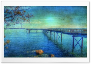 By The Sea Vintage Background HD Wide Wallpaper for Widescreen