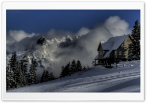 Cabin In The Clouds HD Wide Wallpaper for Widescreen
