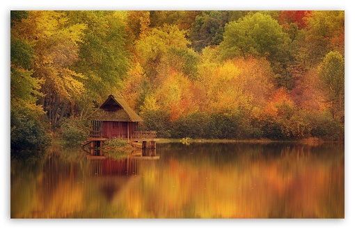 Cabin Retreat In Autumn HD wallpaper for Wide 16:10 5:3 Widescreen WHXGA WQXGA WUXGA WXGA WGA ; HD 16:9 High Definition WQHD QWXGA 1080p 900p 720p QHD nHD ; Standard 4:3 5:4 3:2 Fullscreen UXGA XGA SVGA QSXGA SXGA DVGA HVGA HQVGA devices ( Apple PowerBook G4 iPhone 4 3G 3GS iPod Touch ) ; Tablet 1:1 ; iPad 1/2/Mini ; Mobile 4:3 5:3 3:2 16:9 5:4 - UXGA XGA SVGA WGA DVGA HVGA HQVGA devices ( Apple PowerBook G4 iPhone 4 3G 3GS iPod Touch ) WQHD QWXGA 1080p 900p 720p QHD nHD QSXGA SXGA ;