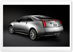 Cadillac CTS Coupe Silver HD Wide Wallpaper for Widescreen