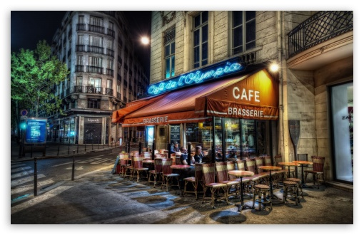 Cafe, Paris, France HD wallpaper for Wide 16:10 5:3 Widescreen WHXGA WQXGA WUXGA WXGA WGA ; Standard 4:3 5:4 3:2 Fullscreen UXGA XGA SVGA QSXGA SXGA DVGA HVGA HQVGA devices ( Apple PowerBook G4 iPhone 4 3G 3GS iPod Touch ) ; Tablet 1:1 ; iPad 1/2/Mini ; Mobile 4:3 5:3 3:2 16:9 5:4 - UXGA XGA SVGA WGA DVGA HVGA HQVGA devices ( Apple PowerBook G4 iPhone 4 3G 3GS iPod Touch ) WQHD QWXGA 1080p 900p 720p QHD nHD QSXGA SXGA ;