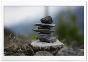 Cairn Closeup HD Wide Wallpaper for Widescreen