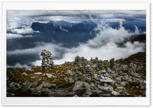 Cairn, Pizol Mountain, Glarus Alps, Switzerland Ultra HD Wallpaper for 4K UHD Widescreen desktop, tablet & smartphone