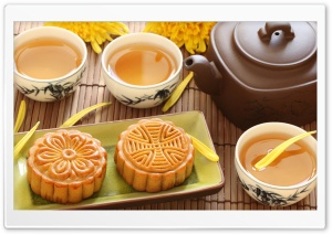 Cake and Tea HD Wide Wallpaper for Widescreen