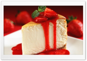 Cake With Strawberries HD Wide Wallpaper for 4K UHD Widescreen desktop & smartphone