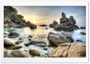 Cala dels Frares II Lloret de Mar, Catalonia HD Wide Wallpaper for Widescreen
