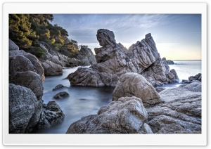 Cala dels Frares Lloret de Mar, Catalonia HD Wide Wallpaper for 4K UHD Widescreen desktop & smartphone