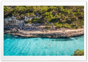 Cala Llombards, Mallorca HD Wide Wallpaper for 4K UHD Widescreen desktop & smartphone