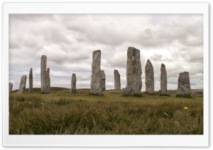 Calanais Stones HD Wide Wallpaper for Widescreen