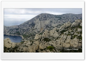 Calanque De Sugiton Panoramic HD Wide Wallpaper for 4K UHD Widescreen desktop & smartphone