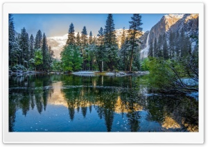 California Yosemite Landscape River HD Wide Wallpaper for 4K UHD Widescreen desktop & smartphone