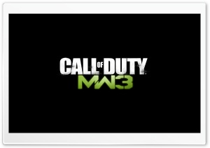 Call Of Duty MW3 Logo HD Wide Wallpaper for 4K UHD Widescreen desktop & smartphone