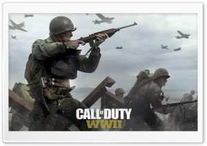 Call of Duty WWII HD Wide Wallpaper for 4K UHD Widescreen desktop & smartphone