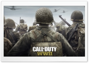 Call of Duty WWII 2017 Game Ultra HD Wallpaper for 4K UHD Widescreen desktop, tablet & smartphone