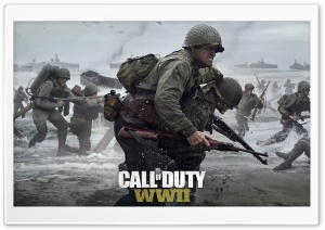 Call of Duty WWII 2017 Video Game Ultra HD Wallpaper for 4K UHD Widescreen desktop, tablet & smartphone