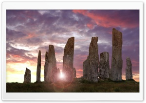 Callanish Stones HD Wide Wallpaper for 4K UHD Widescreen desktop & smartphone