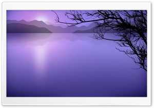 Calm Lake Cartoon HD Wide Wallpaper for Widescreen