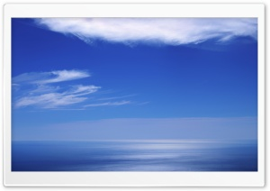 Calm Ocean And Blue Sky HD Wide Wallpaper for 4K UHD Widescreen desktop & smartphone