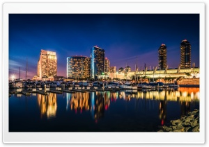 Calm San Diego Night HD Wide Wallpaper for 4K UHD Widescreen desktop & smartphone