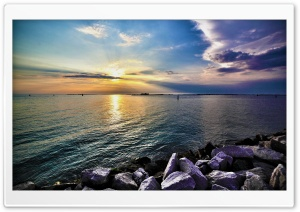 Calm Sea HDR HD Wide Wallpaper for 4K UHD Widescreen desktop & smartphone