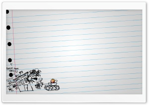 Calvin And Hobbes Drawing HD Wide Wallpaper for Widescreen