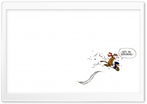 Calvin And Hobbes Exploring Ultra HD Wallpaper for 4K UHD Widescreen desktop, tablet & smartphone