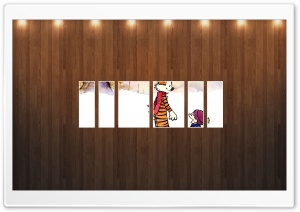 Calvin And Hobbes Picture   Wood Wall HD Wide Wallpaper for Widescreen