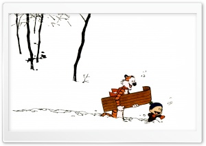 Calvin And Hobbes, Winter HD Wide Wallpaper for 4K UHD Widescreen desktop & smartphone