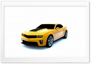 Camaro ZL1 3D Rendered HD Wide Wallpaper for 4K UHD Widescreen desktop & smartphone