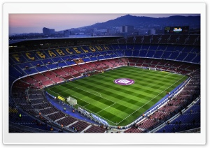 Camp Nou in Barcelona, Spain HD Wide Wallpaper for 4K UHD Widescreen desktop & smartphone