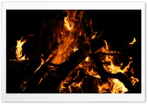 Campfire At Night HD Wide Wallpaper for Widescreen