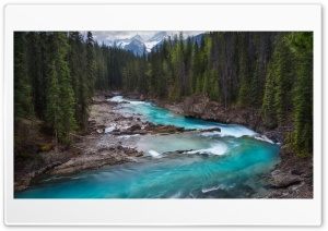 Canada, River, Stream, Forest, Mountain HD Wide Wallpaper for 4K UHD Widescreen desktop & smartphone