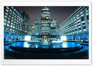 Canary Wharf At Night HD Wide Wallpaper for Widescreen