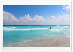 Cancun Beach Ultra HD Wallpaper for 4K UHD Widescreen desktop, tablet & smartphone