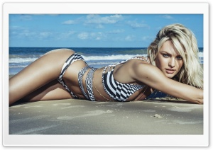 Candice Swanepoel 2014 Swimwear HD Wide Wallpaper for Widescreen