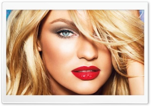 Candice Swanepoel Red Sexy Lips HD Wide Wallpaper for 4K UHD Widescreen desktop & smartphone