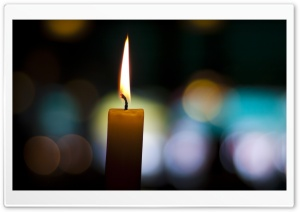 Candle Bokeh HD Wide Wallpaper for Widescreen