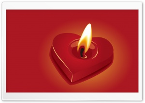 Candle Heart HD Wide Wallpaper for Widescreen