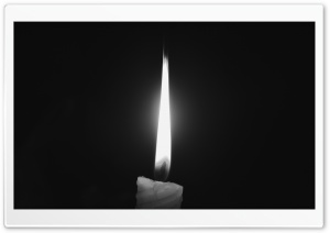 Candle Light-Grayscale HD Wide Wallpaper for Widescreen