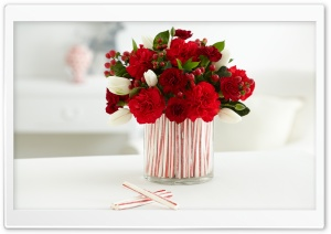 Candy Cane Centerpiece HD Wide Wallpaper for Widescreen