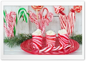 Candy Canes with Red Stripes, Peppermint HD Wide Wallpaper for 4K UHD Widescreen desktop & smartphone