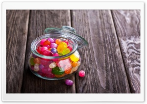 Candy Jar Colorful Candies Fruit Flavors HD Wide Wallpaper for 4K UHD Widescreen desktop & smartphone