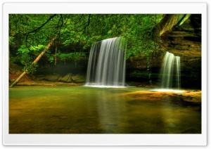 Caney Creek Falls Bankhead National Forest Alabama HD Wide Wallpaper for 4K UHD Widescreen desktop & smartphone