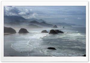Cannon Beach, Oregon,  United States HD Wide Wallpaper for Widescreen