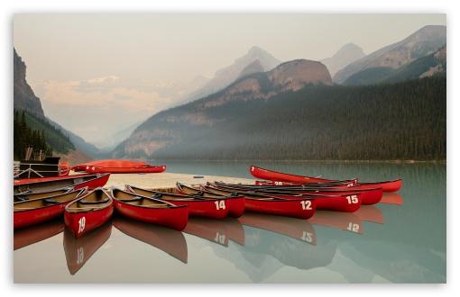 Canoeing Lake Louise Banff Canada Ultra Hd Desktop Background Wallpaper For 4k Uhd Tv Widescreen Ultrawide Desktop Laptop Tablet Smartphone