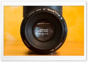Canon EF-S 15-85 through EF 50 1.8II HD Wide Wallpaper for Widescreen