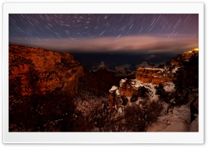 Canyon Night Photo HD Wide Wallpaper for Widescreen