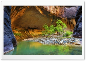 Canyon With Little River Stones Ultra HD Wallpaper for 4K UHD Widescreen desktop, tablet & smartphone
