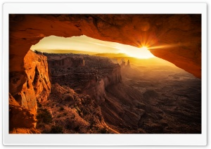 Canyonlands Cave Sunset HD Wide Wallpaper for 4K UHD Widescreen desktop & smartphone